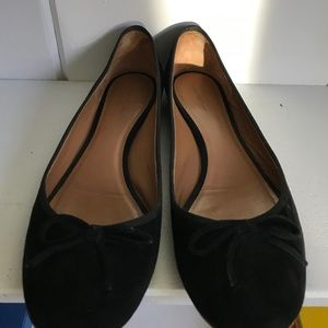AUTHENTIC Celine Paris SIZE 37.Black Suede Flats